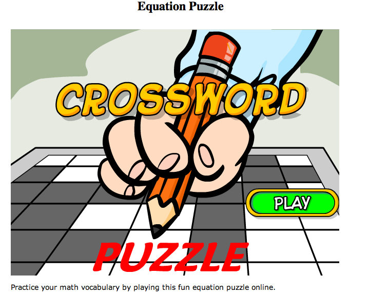 This Game Is Also For 7th Or 8th Grade Math The Link For This Game If You Want To Play Is Www Math Play Com Equation Puzzle Equation Puzzle Html